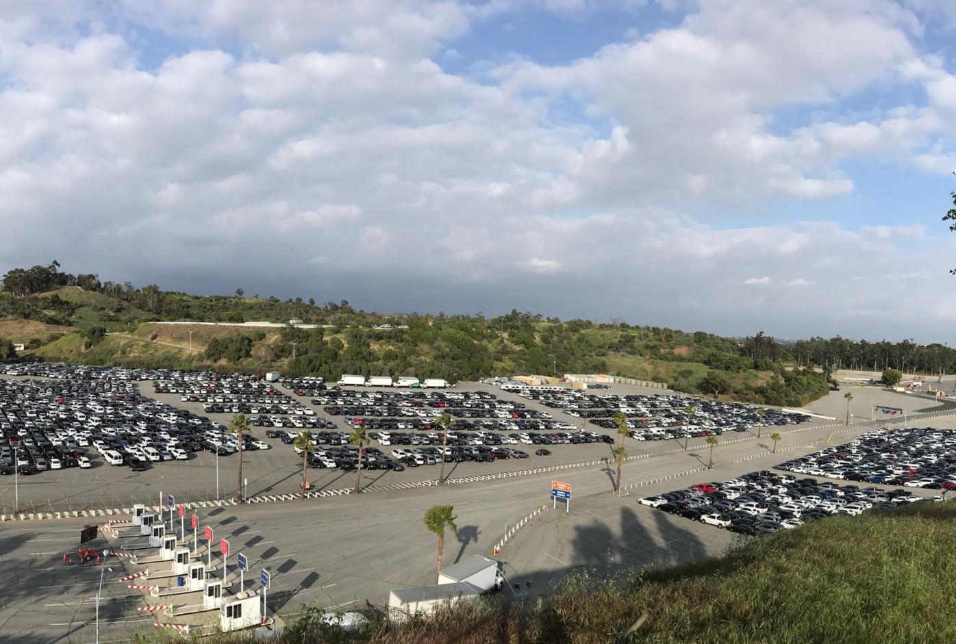 Dodger Stadium Rental Cars April 6 MAK.JPG