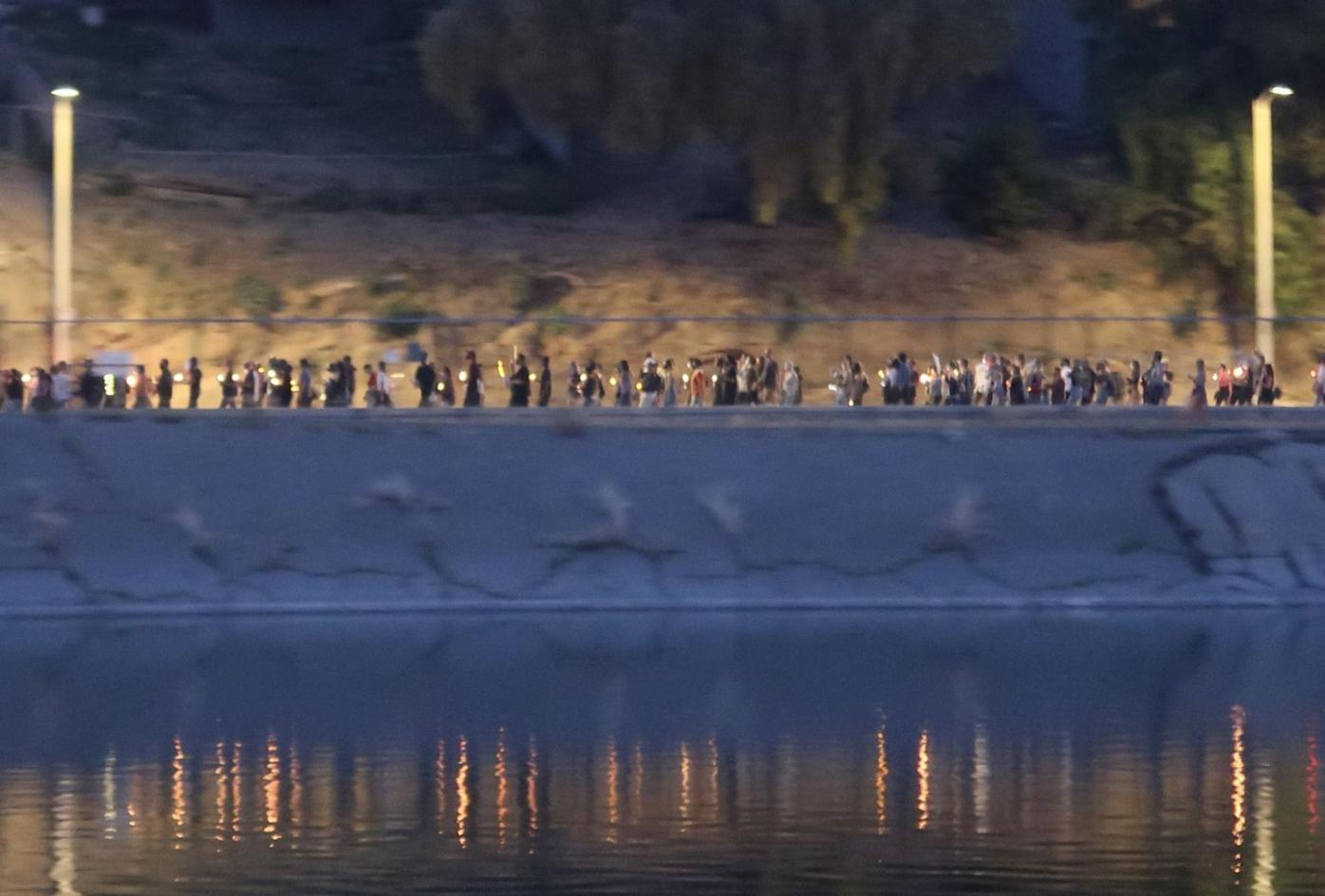 Candlelight vigil at the Silver Lake Reservoir