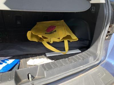 Empty Echo Park car trunk