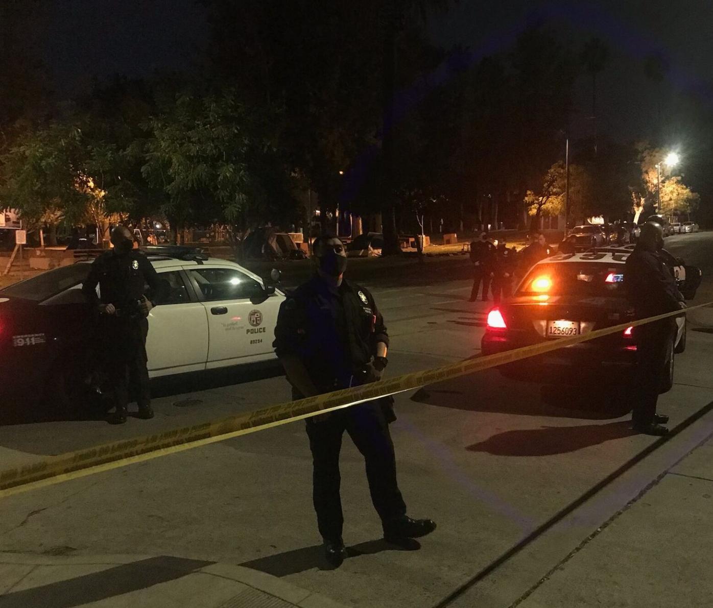 Police seal off Echo Park Lake