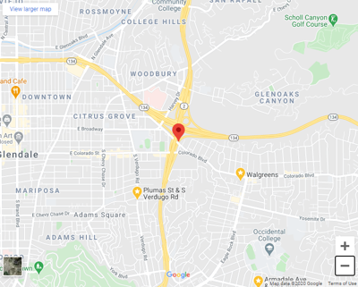 Location of Eagle Rock brush fire