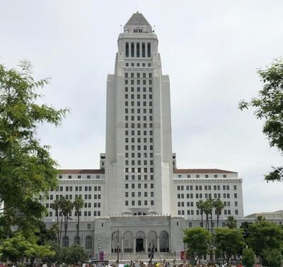 George Floyd protest at L.A. City Hall