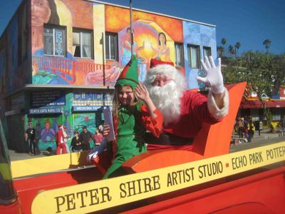 Santa at Echo Park parade