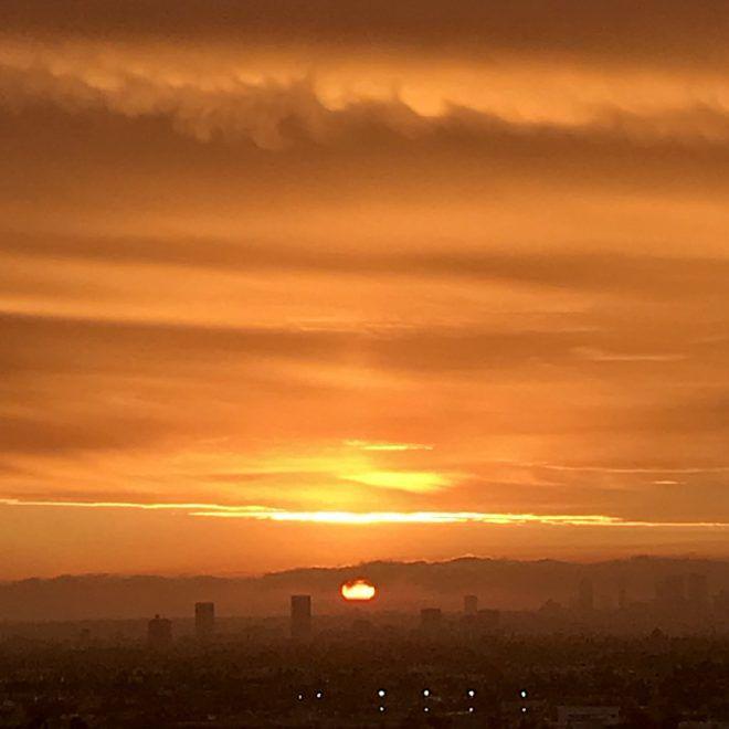 Golden skies at sunset