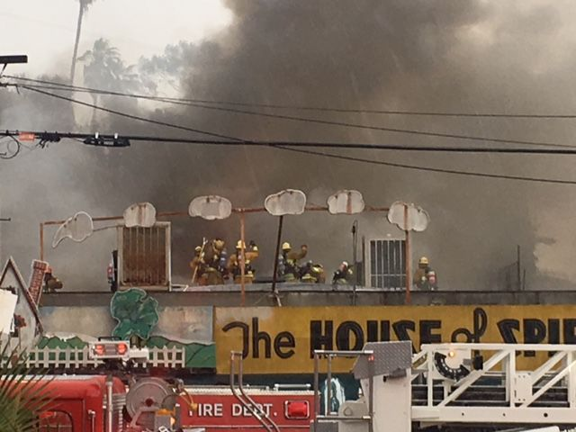 Fire hits Echo Park's House of Spirits; power outage reported [updated]