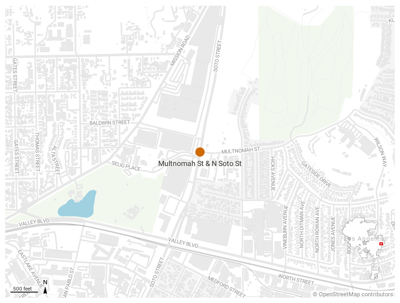map of soto and multnomah