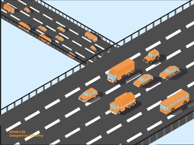 Crosstown traffic graphic