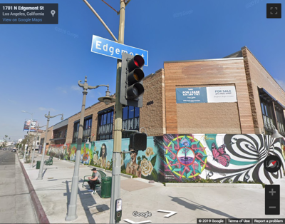 Google map of Hollywood and edgemont