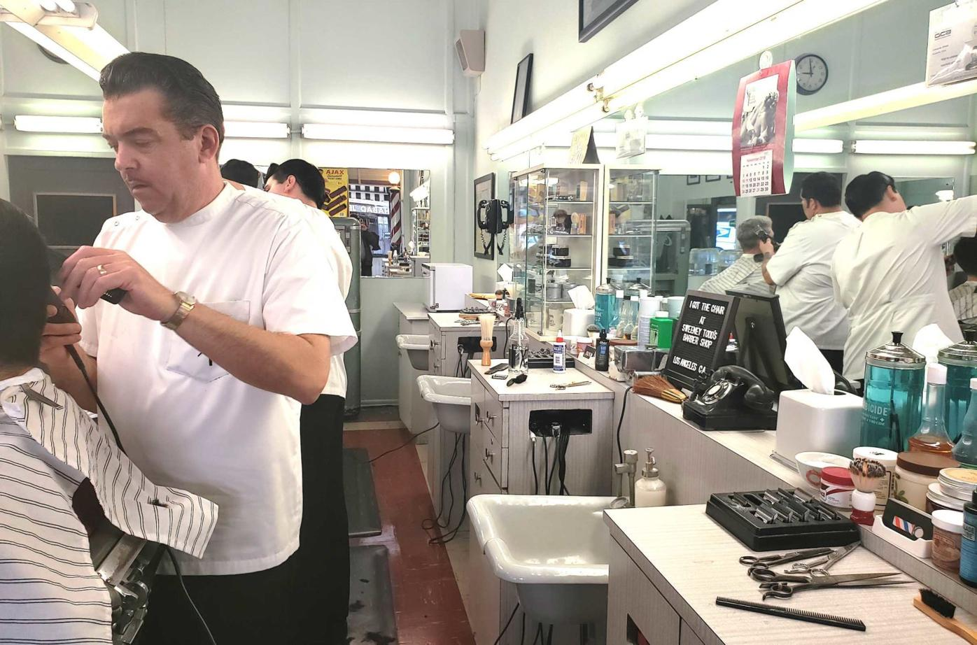 Todd Lahman, owner of Sweeney Todd's Barber Shop