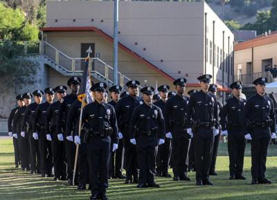 LAPD Officers at Police Academy