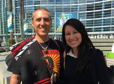 Marcos Aguilar and Minnie Ferguson  of Anahuacalmecac International University Preparatory of North America