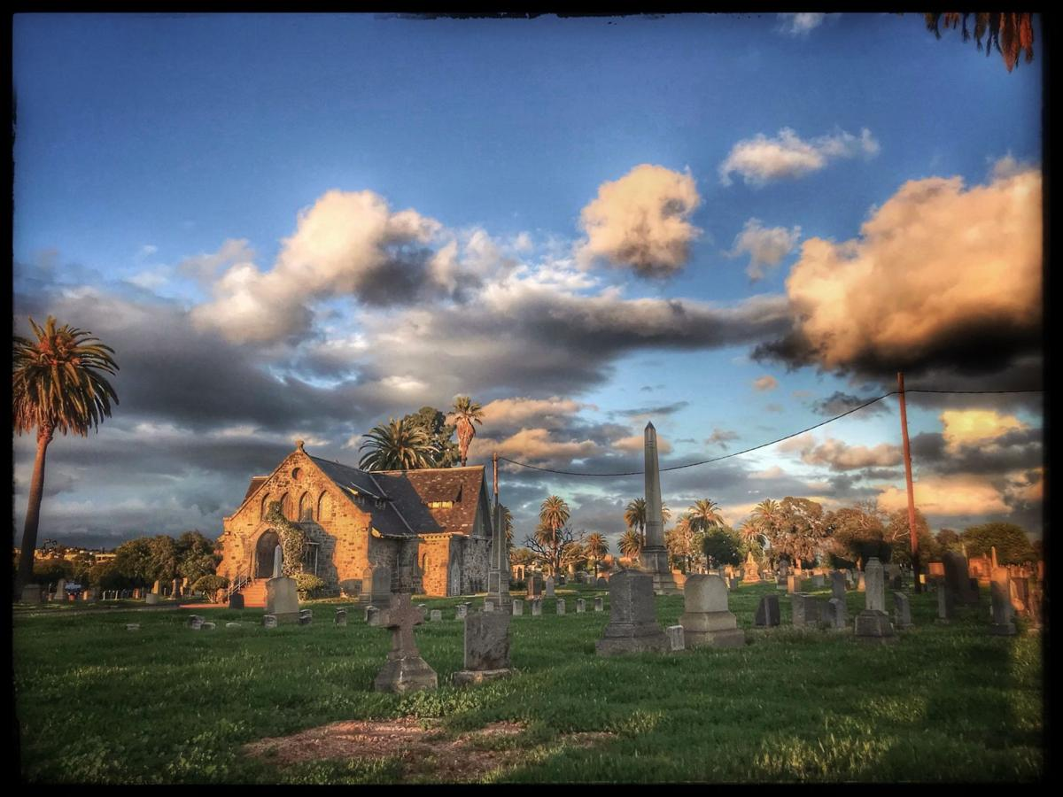 Late afternoon at Evergreen Cemetery