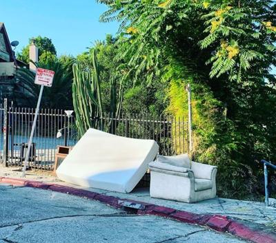 Abandoned sofas in Echo Park