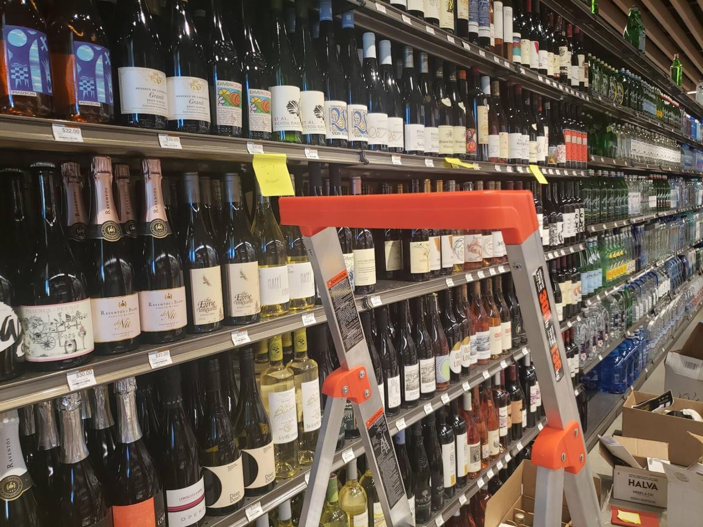 Erewhon's wine section