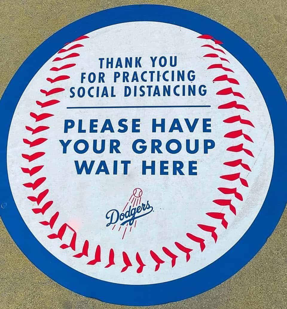 Dodger Stadium social distancing decal
