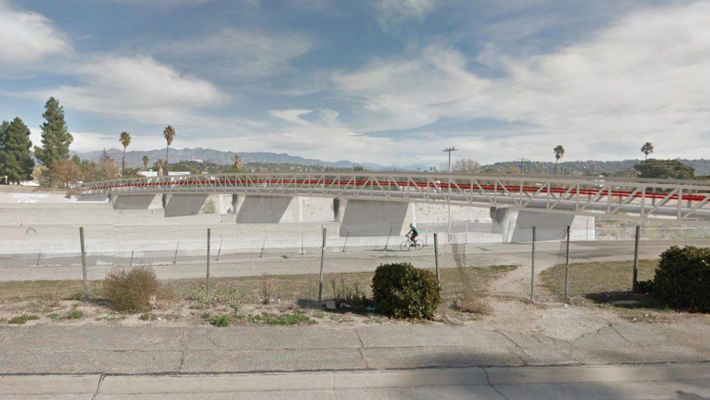 Rendering of new Red Car pedestrian-bike bridge