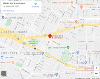 map of lorena and whittier