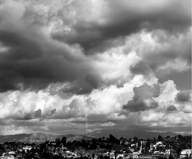 Storm clouds over Echo Park