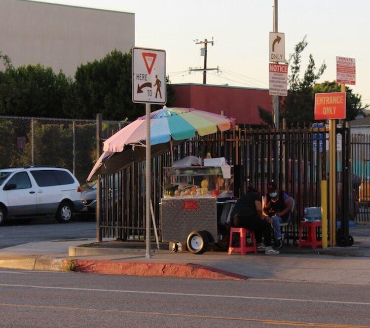 East LA vendor at the corner