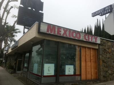 Former Mexico City restaurant exterior