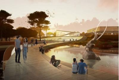 Concept rendering for Page Museum at the La Brea Tarpits