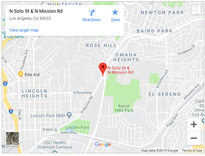 Google map of Mission Road and North Broadway