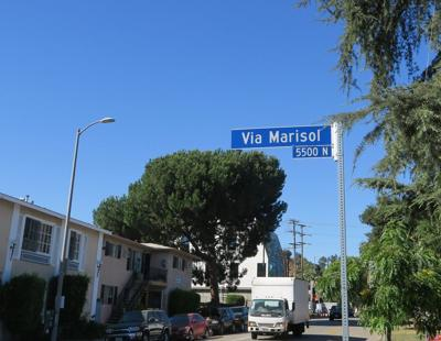 via marisol sign at monterey road.