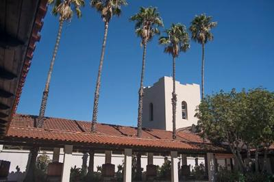 Southwest Museum with palms