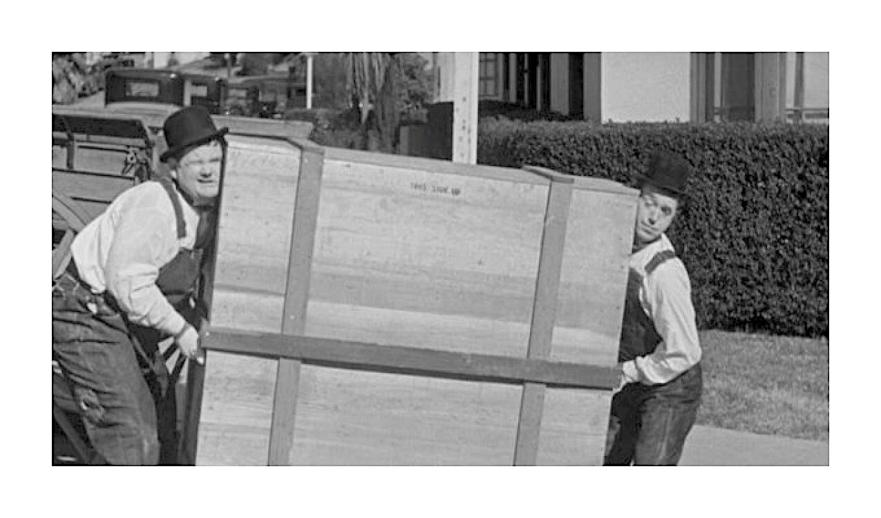 Laurel & Hardy  in The Music Box Film