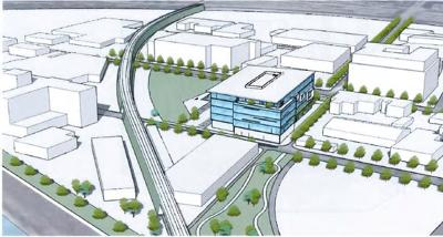 Preliminary Massing of Proposed CLean Water Campus in Lincoln Heights