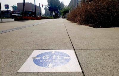 Sidewalk marker