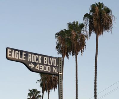 Eagle Rock Boulevard Street sign