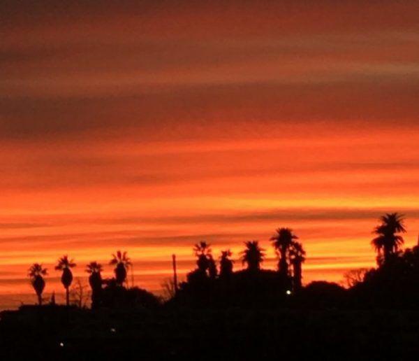 A showy L.A. sunset