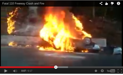 Video of fiery 110 Freeway crash