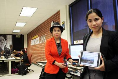 Speaking in code with computer science prize winners America and Penelope Lopez