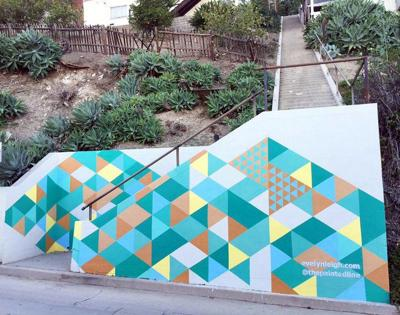 Silver Lake stairway gets a colorful makeover