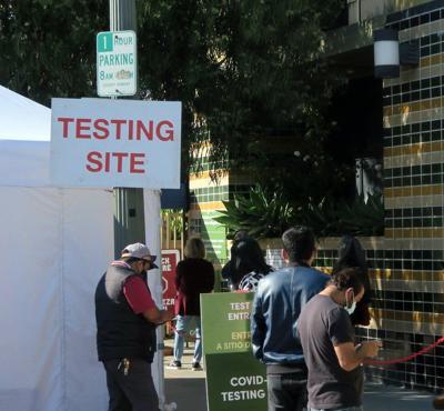 COVID-19 testing site in Echo Park