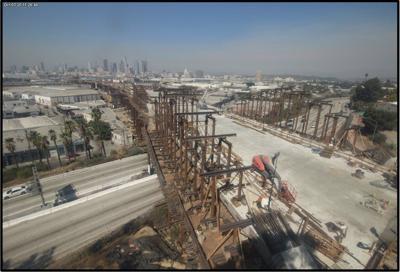 Sixth Street Bridge under construction - Oct. 3, 2020