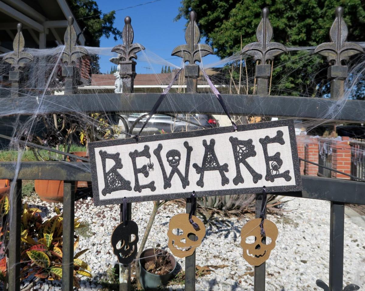 Beware Halloween decoration Echo Park