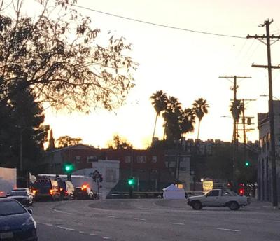 Echo Park hit-and-run scene Sunset Boulevard