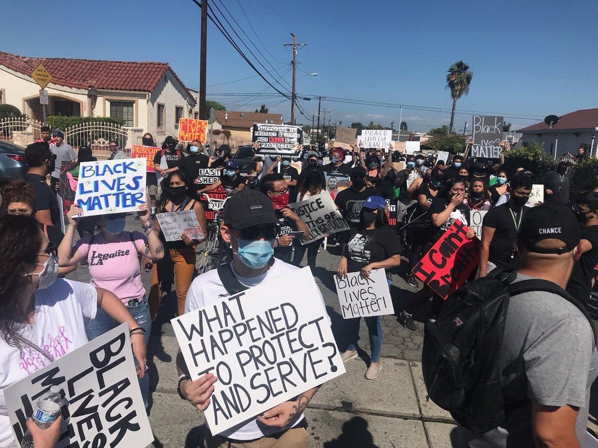 East LA protest