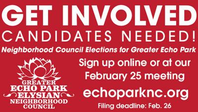 Bulletin Board: Echo Park Neighborhood Council Election Call For Candidates!