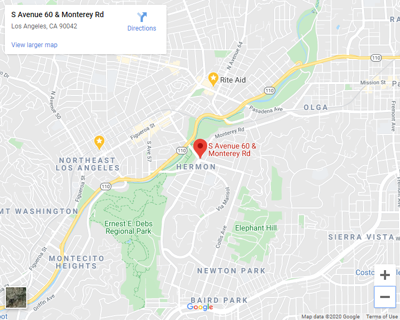 map of avenue 60 and monterey road