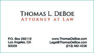 Thomas L. DeBoe – Attorney at Law