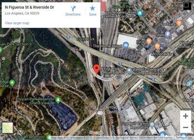 Google map of Riverside-Figueroa bridge