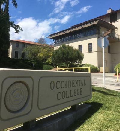 Occidental College sign