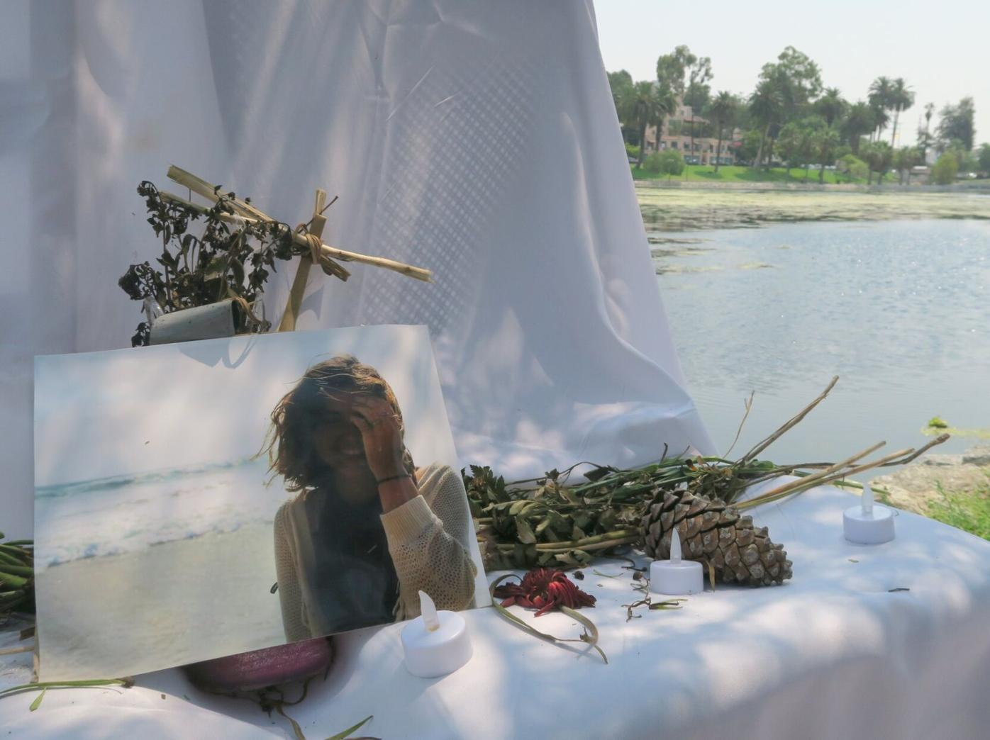 Brianna Moore memorial at echo park lake photo by jesus sanchez 8-11-2020 12-53-26 PM.JPG