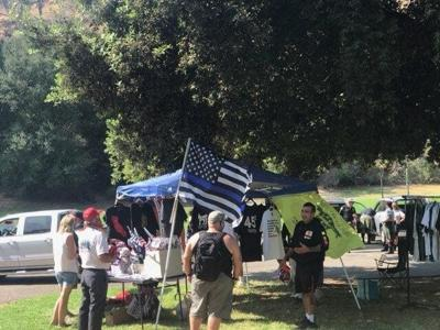 Blue Lives Matter event at Elysian Park