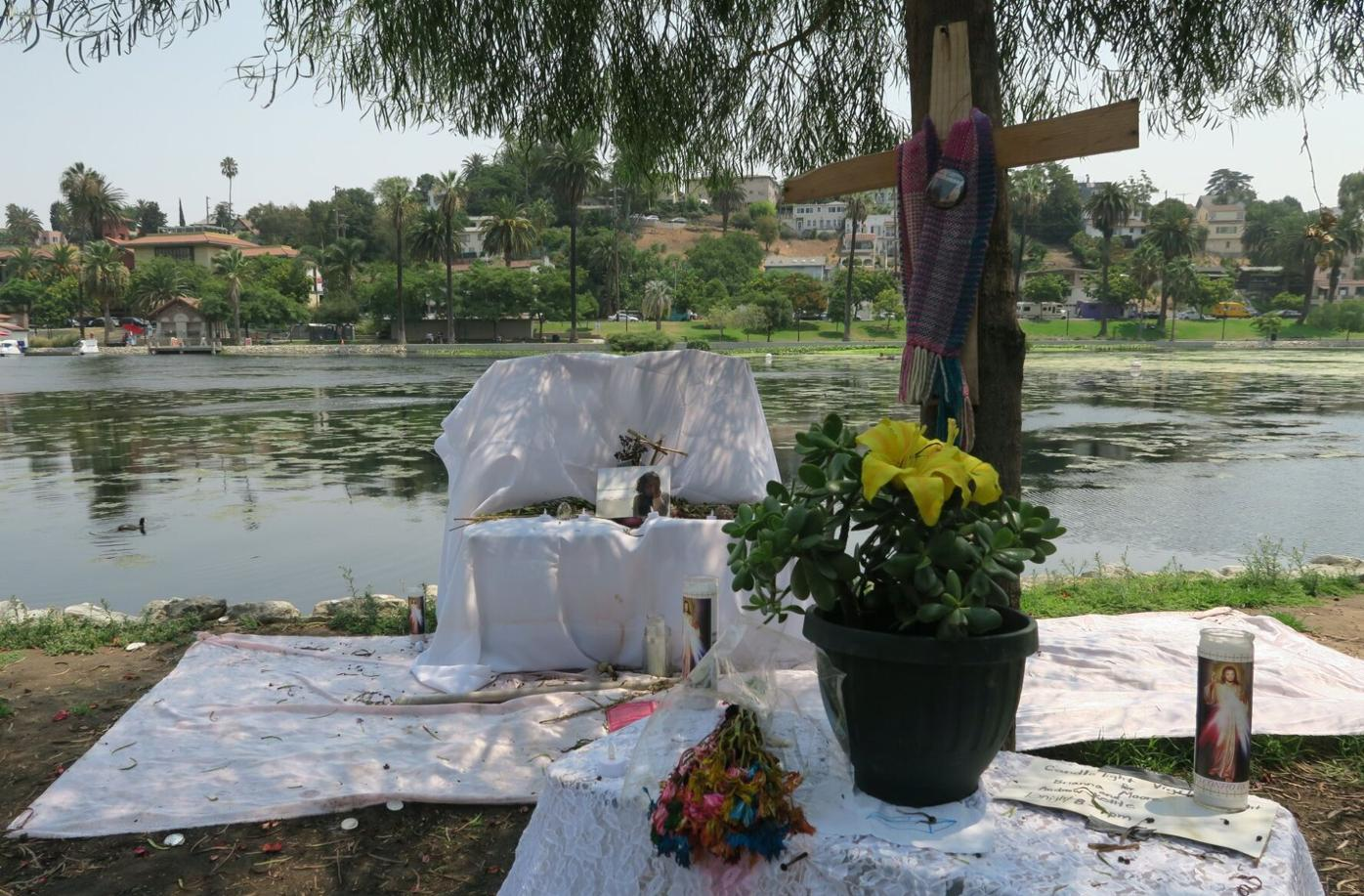 Brianna Moore memorial at echo park lake photo by jesus sanchez 8-11-2020 12-53-12 PM.JPG