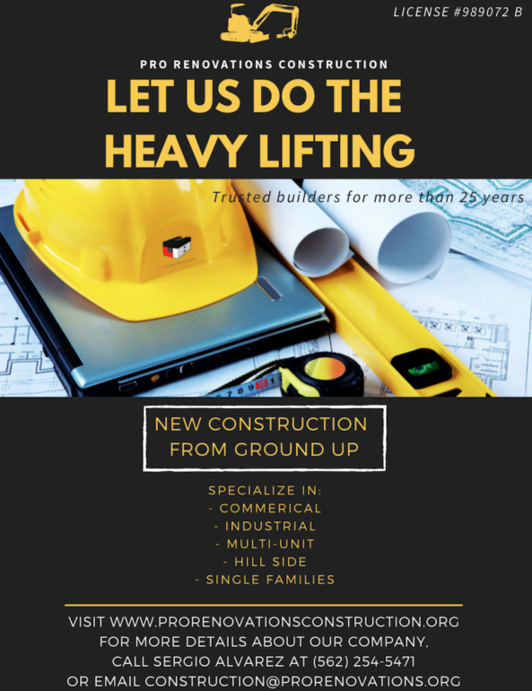 Construction Services Available — Specialists in Hillside and New Construction